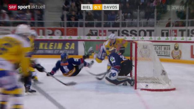 Video «Eishockey: NLA, Biel - Davos» abspielen