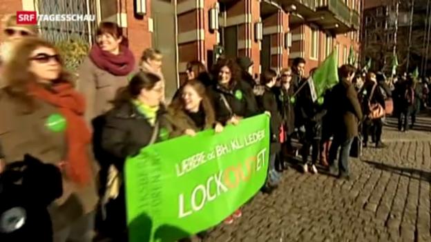 Video «Ausgesperrte Lehrer in Dänemark» abspielen