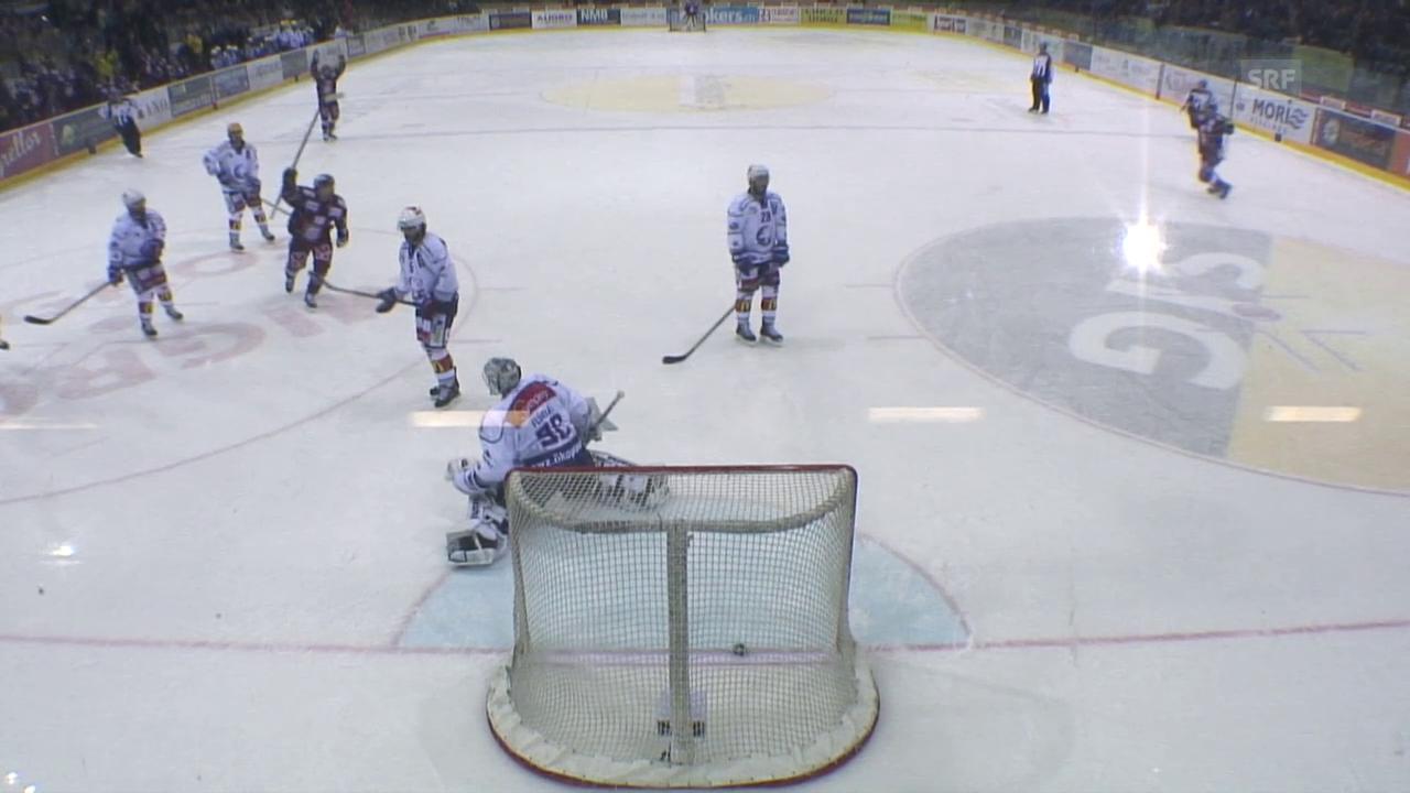 Eishockey: Playoffs 2015, 6. Halbfinal Genf-ZSC, 1:1 Jeremy Wick