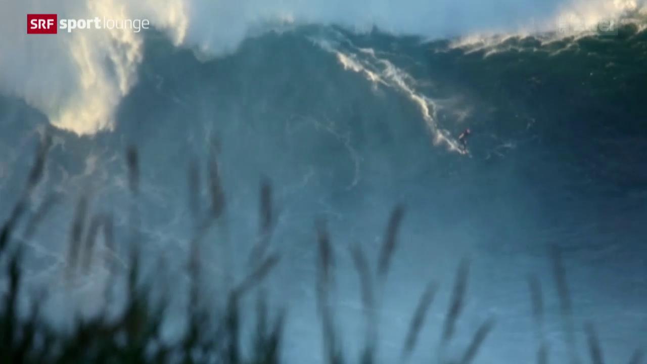 Die Monsterwellen von Nazaré in Portugal