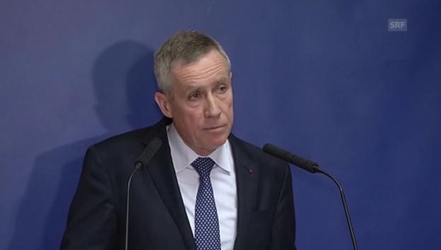 Video «Pariser Staatsanwalt Molins informiert über Ermittlungen» abspielen