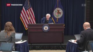 Video «Janet Yellens letzter grosser Auftritt als US-Notenbankchefin» abspielen