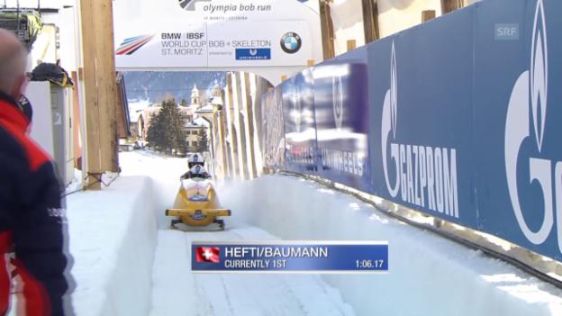 Video «Der 1. Lauf von Hefti/Baumann an der EM in St. Moritz» abspielen