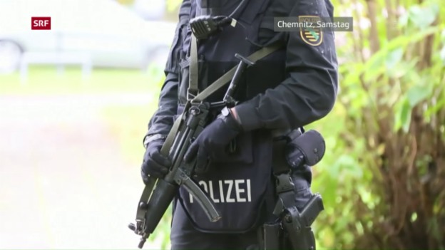 Video «Polizei verhaftet Terrorverdächtigen in Leipzig» abspielen