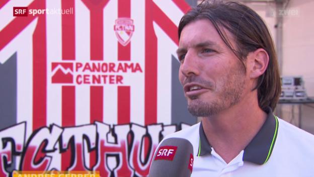 Video «Fussball: Der FC Thun vor dem Saisonstart» abspielen