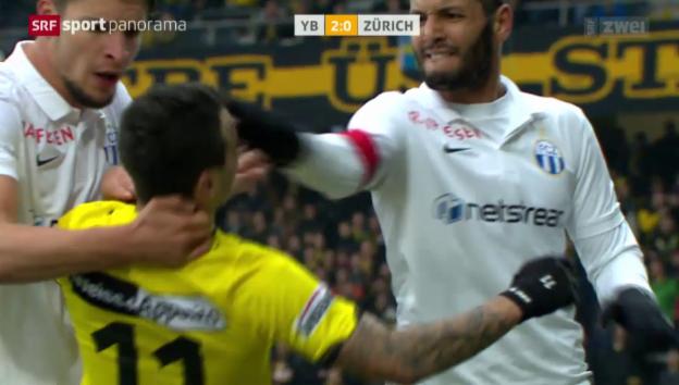 Video «Fussball: Chikhaoui Tätlichkeit» abspielen