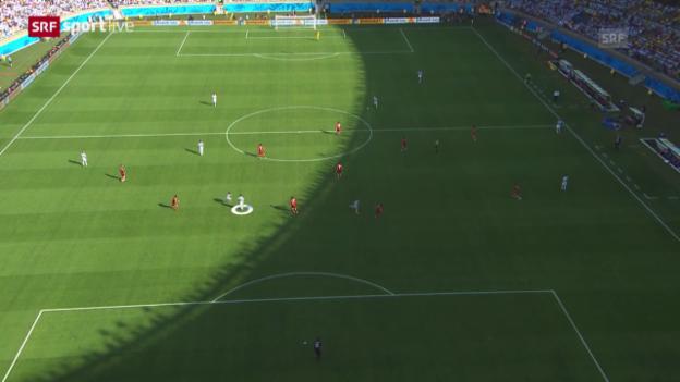 Video «FIFA WM: Mangelnde Laufbereitschaft Messis» abspielen