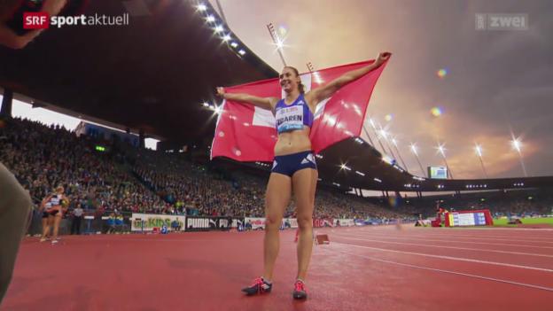 Video «Leichtathletik: Weltklasse Zürich, Schweizer Highlights» abspielen