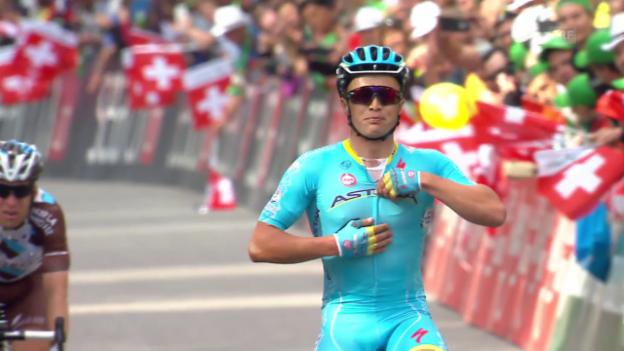Video «Rad: Tour de Suisse, Zusammenfassung 8. Etappe» abspielen