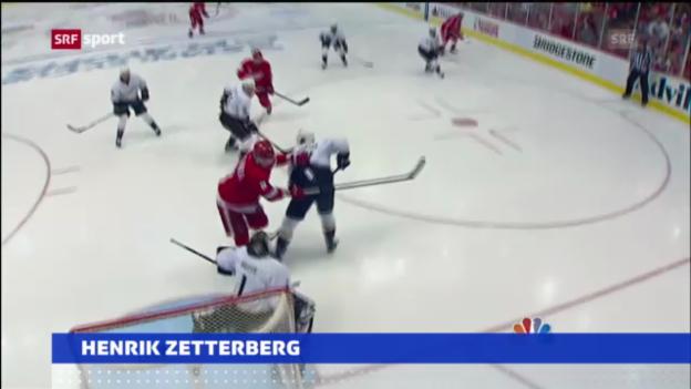 Video «Eishockey: Zetterberg schiesst Red Wings zum Sieg» abspielen