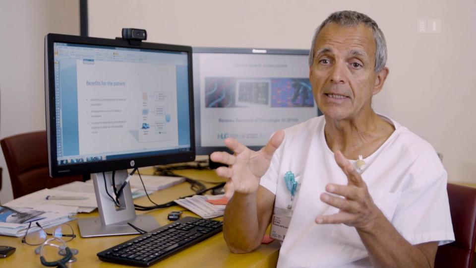 Chef-Onkologe Yves Dietrich: «Wir werden bald zigtausende Informationen analysieren müssen.»