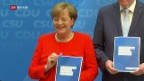 Video «FOKUS: Angela Merkel und ihr Wahlprogramm» abspielen
