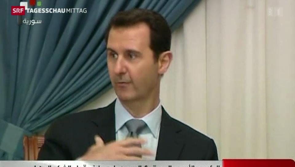Al-Assad pocht auf Machterhalt