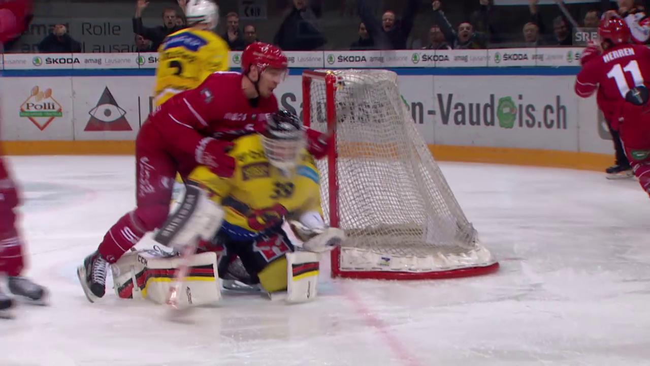 Eishockey: Playoff-Viertelfinal Spiel 6, Lausanne - Bern