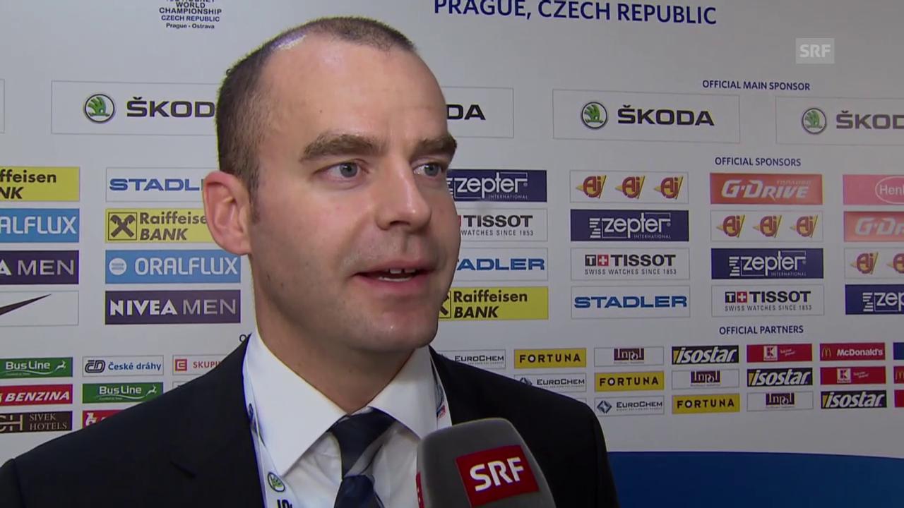 Eishockey: WM, Interview Schiedsrichter Tobias Wehrli
