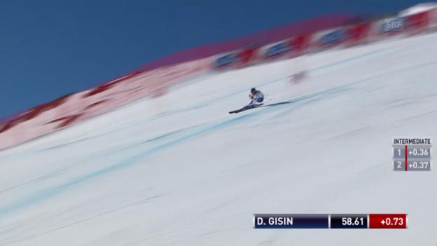 Video «Die Fahrt von Dominique Gisin («sportlive»)» abspielen