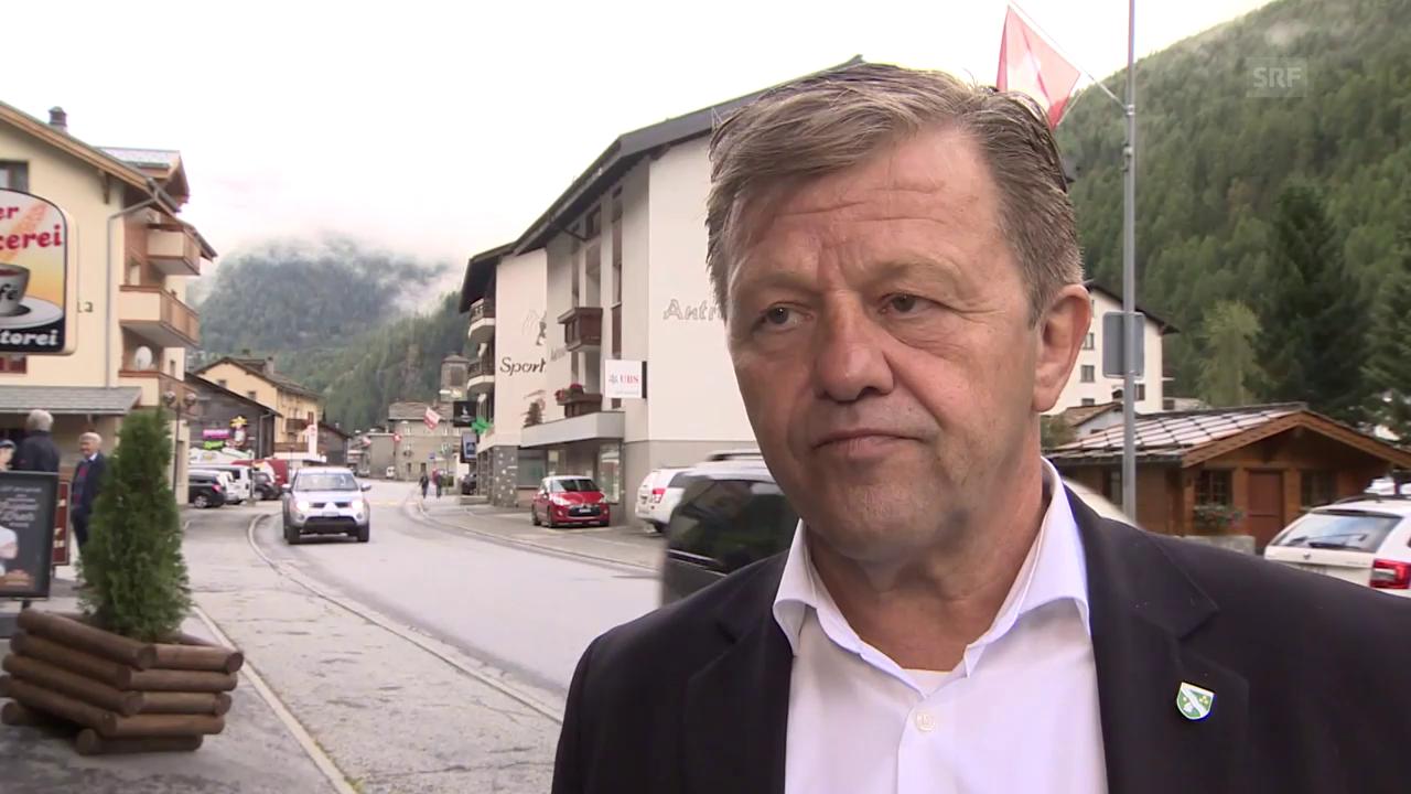Gemeindepräsident Bruno Ruppen zum Gletscherabbruch