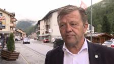 Video «Gemeindepräsident Bruno Ruppen zum Gletscherabbruch» abspielen
