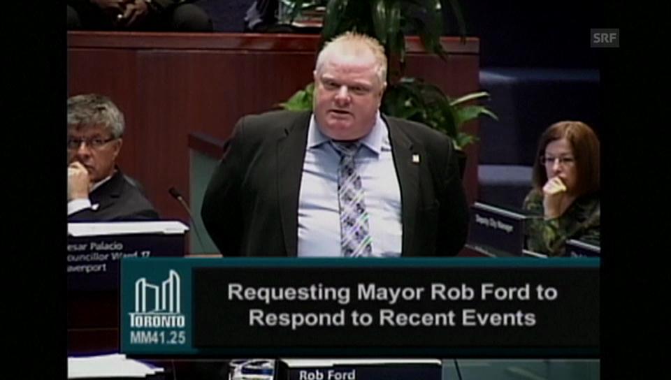 Rob Ford wird mit Crack-Konsum konfrontiert (Nov. 13)