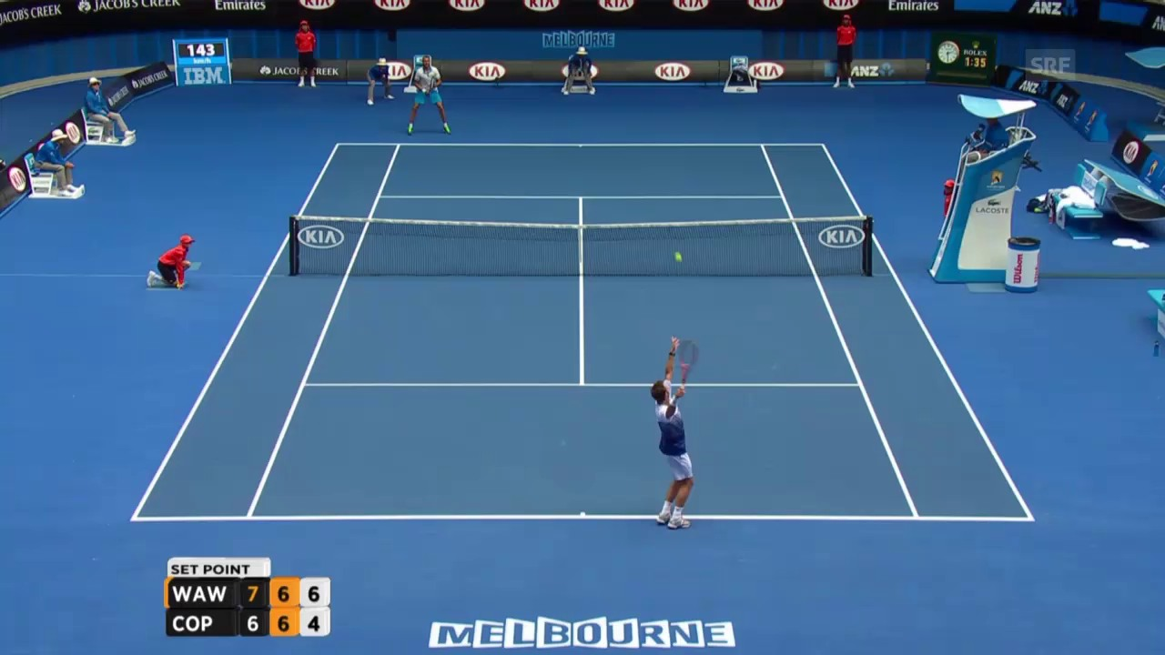 Tennis: Australian Open, Wawrinka - Copil Highlights