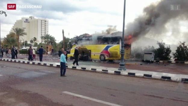 Video «Vier Tote nach Anschlag in Ägypten» abspielen