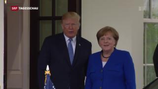 Video «Merkel zu Gast bei Trump» abspielen