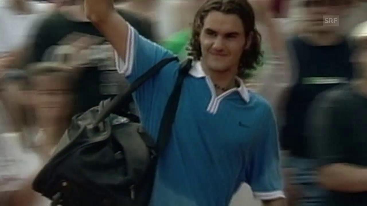 French-Open-Serie: Federer-Kratochvil 2000