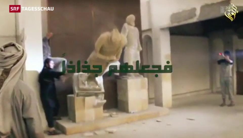Aus dem Archiv: IS-Terroristen zerstören Kulturgüter