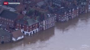 Video «England unter Wasser – Cameron unter Druck» abspielen