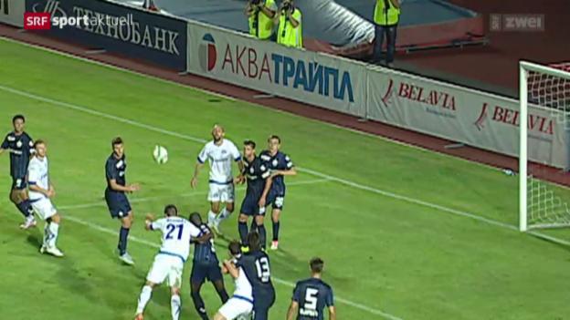 Video «Fussball: EL, Dinamo Minsk-FC Zürich» abspielen