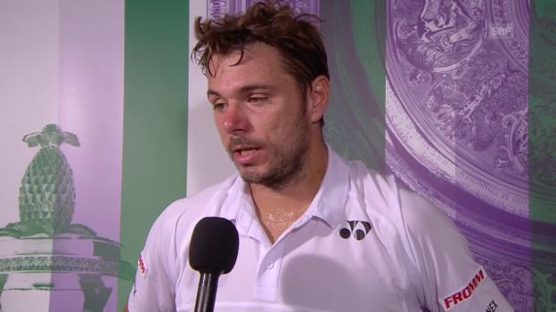 Video «Tennis: Wimbledon: Interview mit Stan Wawrinka (englisch)» abspielen
