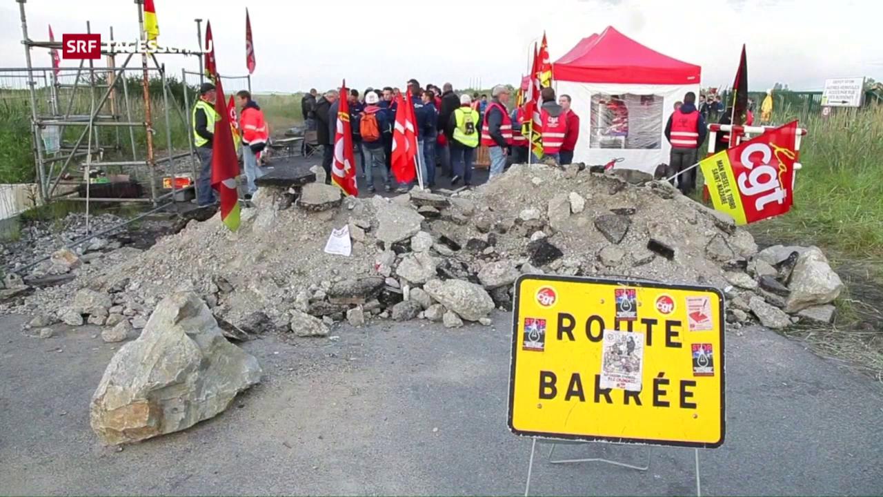 Streiks in ganz Frankreich