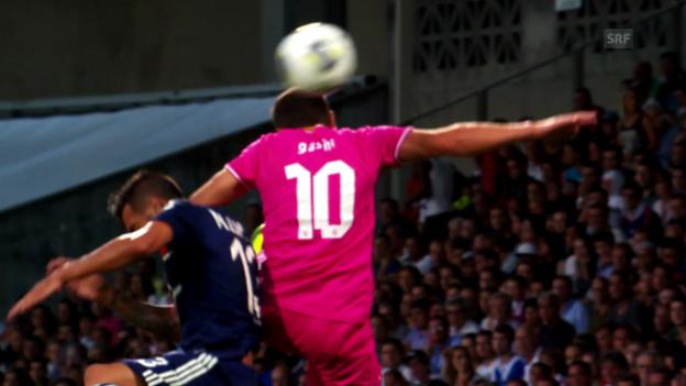 Video «Fussball: Rückblick auf GC- Lyon» abspielen