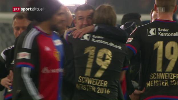 Video «Basel macht Meistertitel mit Sieg über Sion perfekt» abspielen