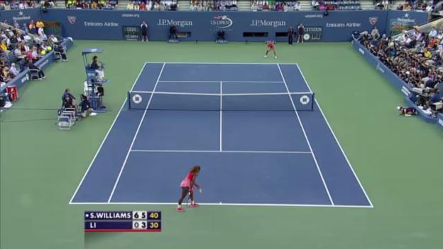 Video «Tennis: Williams' Matchball gegen Li (unkommentiert)» abspielen