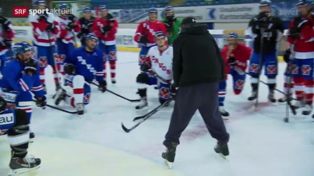 Video «Eishockey: Der HC Davos vor dem Saisonstart» abspielen