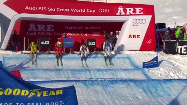 Video «Skicross: Are, Final Männer» abspielen
