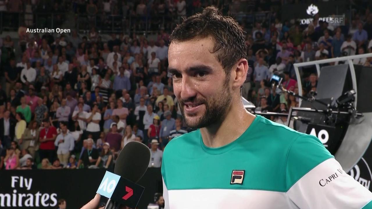 Cilic über Chung und Federer (engl.)
