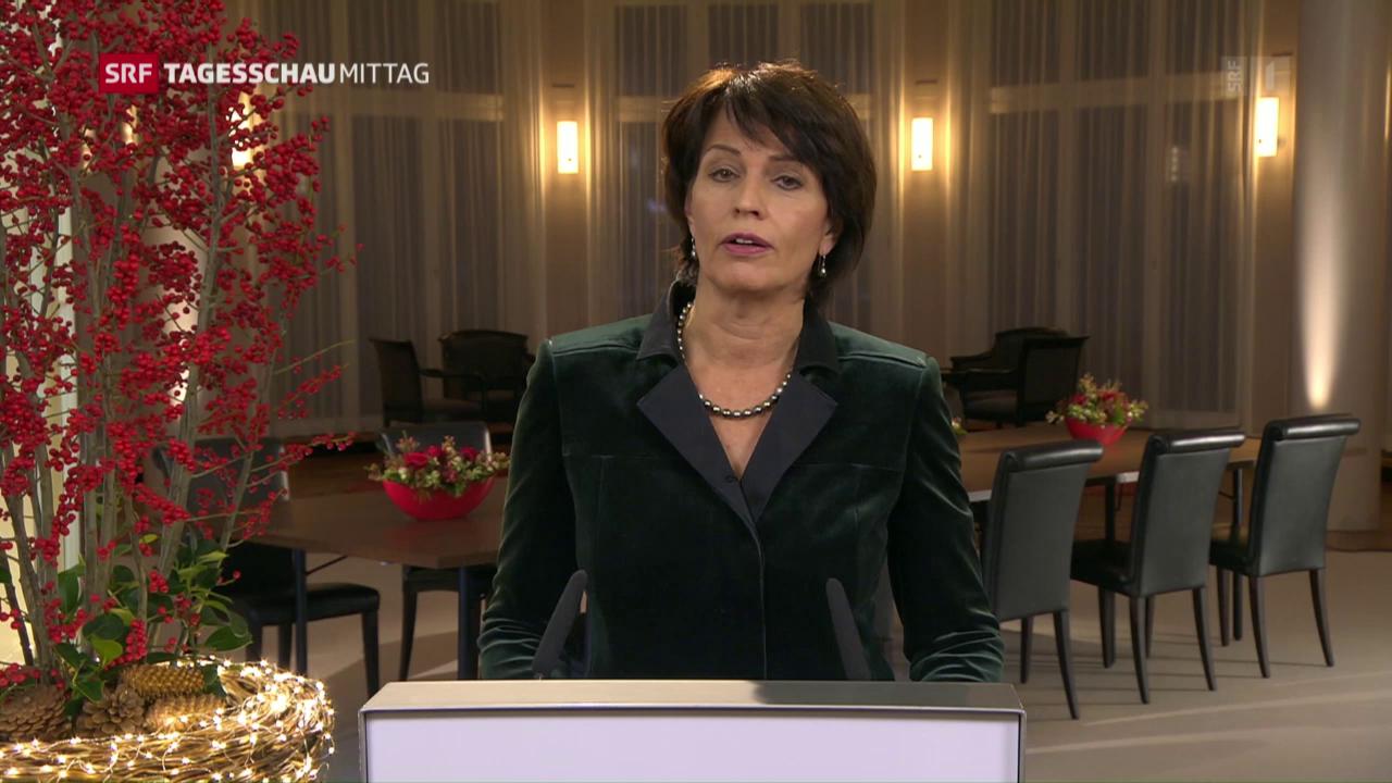 Neujahrsansprache von Bundespräsidentin Doris Leuthard