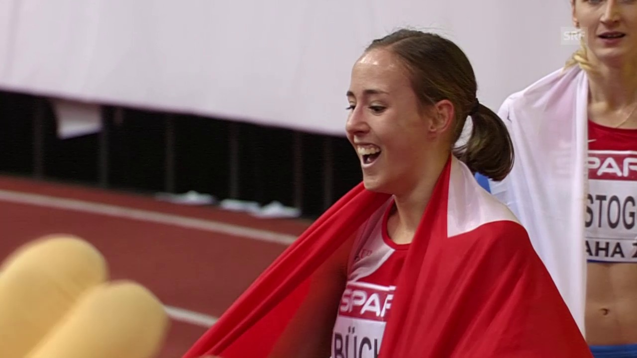 Leichtathletik: Hallen-EM in Prag, 800-m-Final der Frauen, Selina Büchel siegt