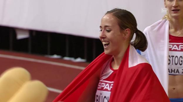 Video «Leichtathletik: Hallen-EM in Prag, 800-m-Final der Frauen, Selina Büchel siegt» abspielen