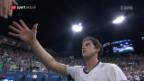 Video «Del Potro schafft gegen Thiem die Wende und fordert Federer» abspielen