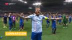 Video «Islands Captain Gunnarsson spielt gegen Frankreich» abspielen