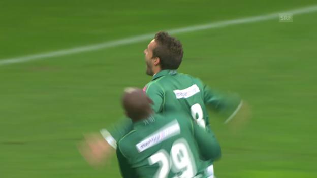 Video «2. Runde 2011: St. Gallen schlägt Thun 2:0» abspielen