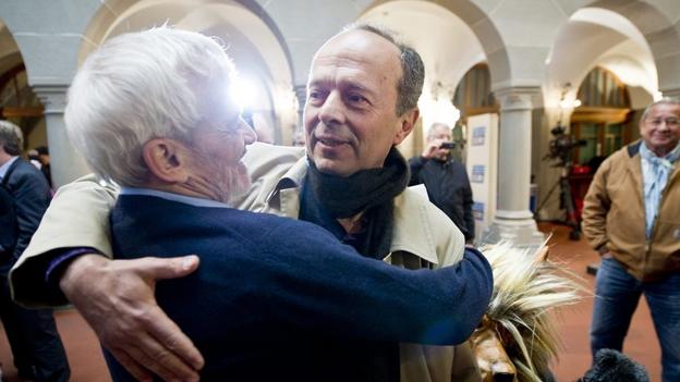 AL-Präsident Niklaus Scherr im Gespräch (Michael Ganz, 21.4.2013)