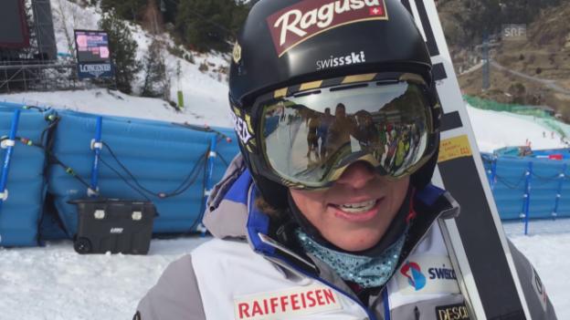 Video «Lara Gut vor den Rennen in Soldeu» abspielen