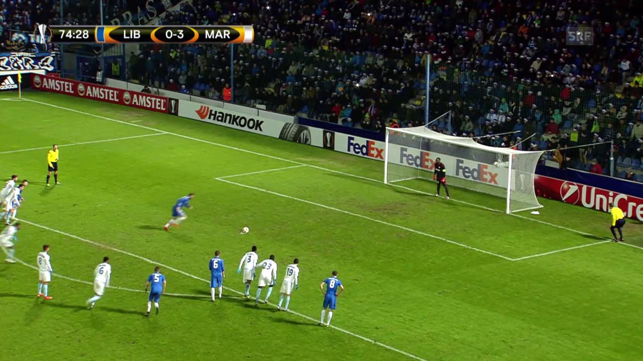 Fussball: Europa League, Liberec-Marseille