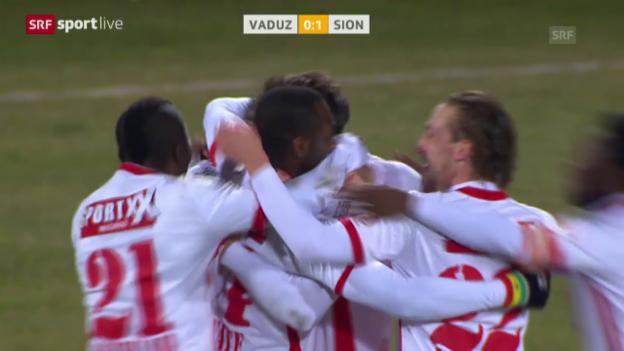 Video «Fussball: Super League, Nachtragsspiel 19. Runde, Vaduz - Sion» abspielen