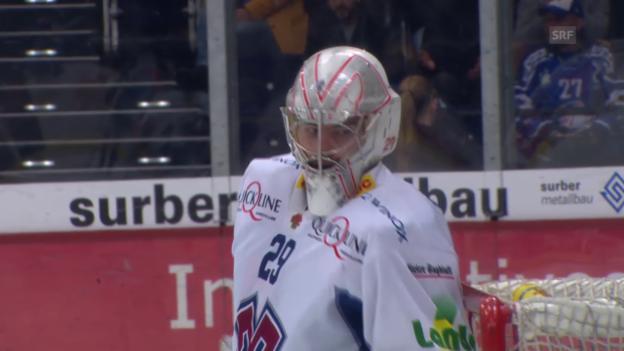 Video «Eishockey: NLA, Playoff-Viertelfinal, 3. Spiel, ZSC Lions - Biel, Paraden von Simon Rytz» abspielen