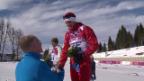 Video «Langlauf: Flower-Ceremony mit Dario Cologna (sotschi direkt, 14.2.2014)» abspielen